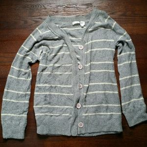 Aqua grey cardigan with buttons size M